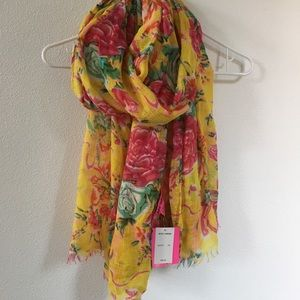 Betsey Johnson floral rose scarf